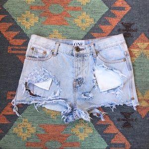One Teaspoon Romeos Shorts Size 28